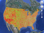 Carbon Dioxide map of U.S.